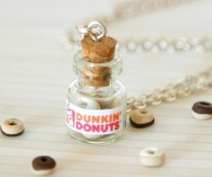 bottle, donuts, and dunkin image