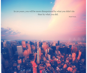 quote, city, and mark twain image