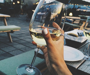 wine, drink, and nails image