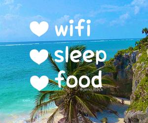 food, wifi, and beach image