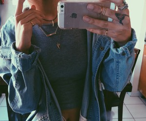 fashion, girl, and iphone image