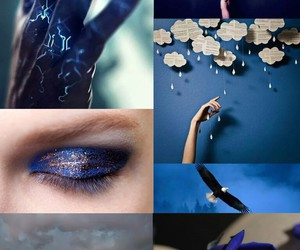blue, bronze, and Collage image
