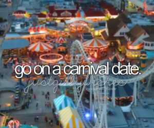 date, carnival, and love image