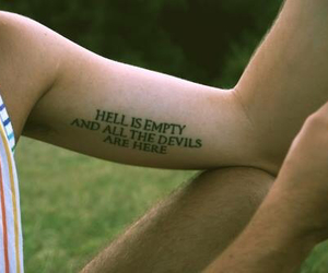 devils, tatto, and emptiness image