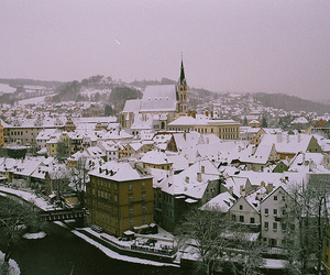 city and snow image