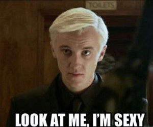 sexy, draco malfoy, and harry potter image