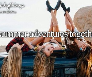summer, adventure, and friends image