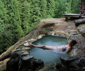nature, hot springs, and oregon image