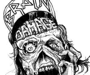 black and white and zombie image