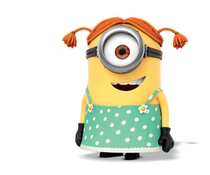 girl, cute, and minion image