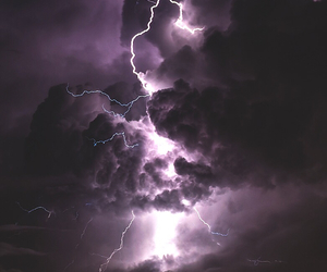 sky, clouds, and lightning image
