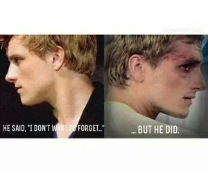the hunger games, peeta mellark, and mockingjay image