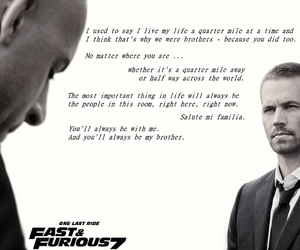 brian, fast and furious 7, and dom image