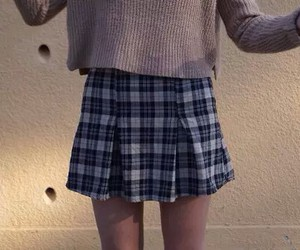 girl, pale, and skirt image