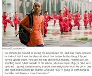funny, karate kid, and jaden smith image
