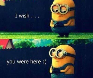 minions, cute, and sad image