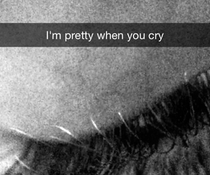 b&w, cry, and eyes image