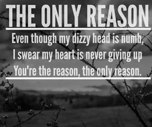 the only reason