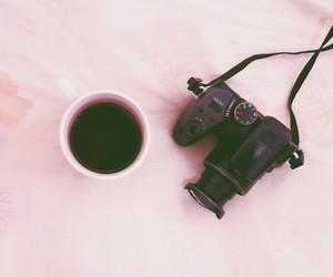 camera, coffee, and hipster image