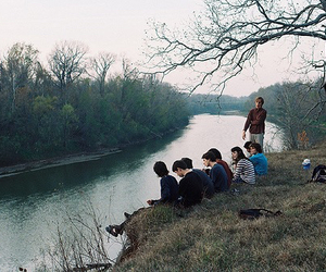 friends, boy, and nature image