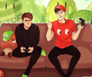 fan art, dan and phil, and dan howell image