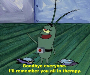 plankton, therapy, and spongebob image