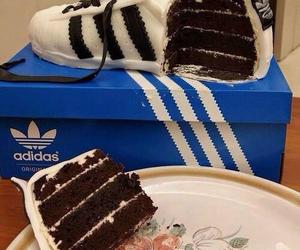 adidas, cake, and food image