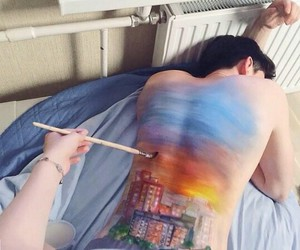 aesthetic, couple, and painting image