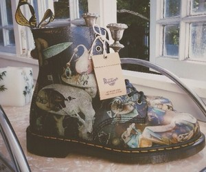 art, boots, and grunge image
