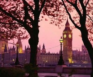 london, Big Ben, and pink image