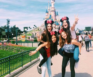 disney, girls, and disneyland paris image