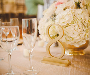 reception, wedding, and table decor image