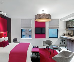 architecture, pink, and bedroom image
