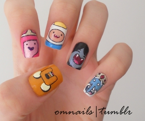 adventure time, nails, and finn image