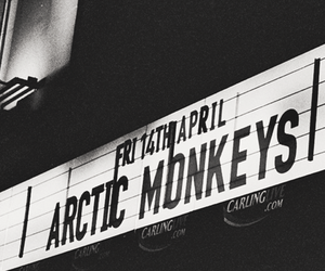 arctic monkeys, indie, and b&w image