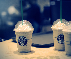 frappuccino, starbucks, and coffee image