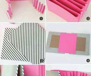 diy, pink, and folder image