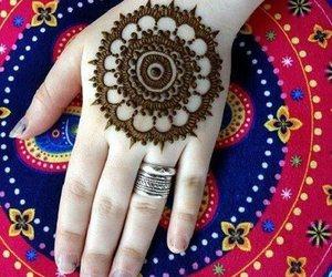 fashion, henna, and mehndi image