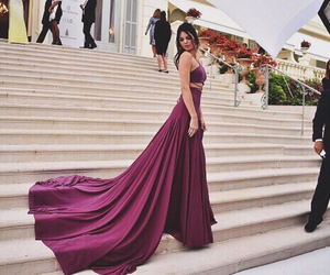 kendall jenner, dress, and purple image