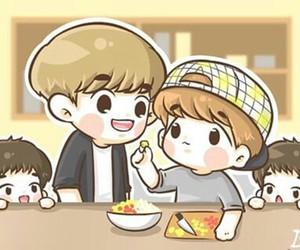 chanyeol, baekhyun, and exo image