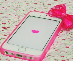 pink, iphone, and we heart it image