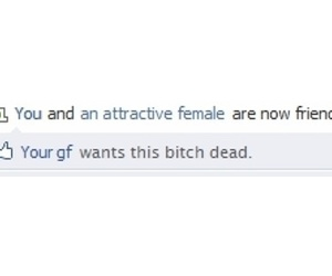 facebook, bitch, and funny image