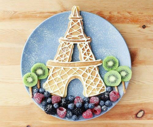 eiffel tower and waffles image