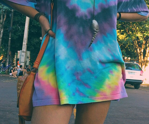 indie, summer, and tie dye image