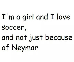 girl, soccer, and neymar image