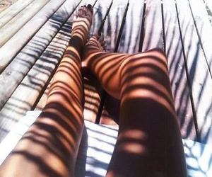 beach, bikini, and legs image