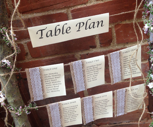 flowers, plan, and table image