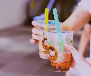 drink, bubble tea, and tea image