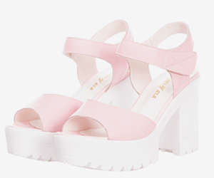 pink, platforms, and shoes image