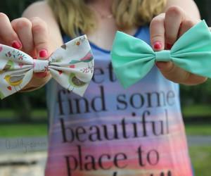 bow, nails, and tumblr image